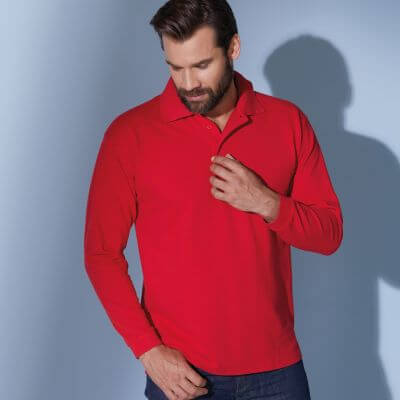 Polo-Pique Long-Sleeved