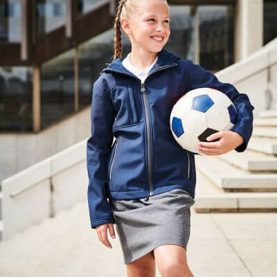 Kids Octagon 3-layer Hooded Softshell