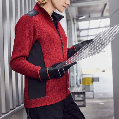 Ladies' Knitted Workwear Fleece Jacket
