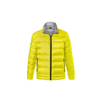 Якета и елеци, James&Nicholson JN1150 Men's Down Jacket Yellow