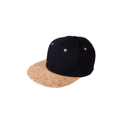 6 Panel Cork Flat Peak Cap