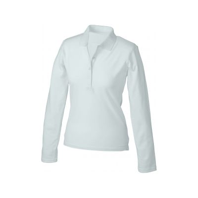 Ladies' Elastic Polo Long-Sleeved